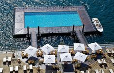 The Pool on Lake Como at Grand Hotel Tremezzo by Travelive, via Flickr