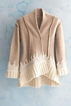 inspiration: sweater with crochet edge