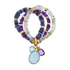 Kanupriya Multi Gemstone Triple Stretch Bead Bracelet ($330) ❤ liked on Polyvore