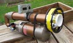 Antenna Cannon For Helping You Install A Dipole Antenna. A very well built and even painted one.