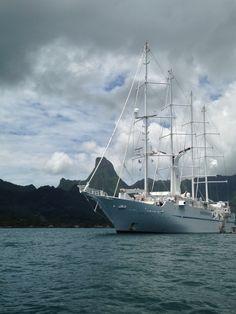 Windstar Cruises sailing through Tahiti.