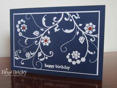 Happy Birthday - Flowering Flourishes - Stampin' Up! - Just Spiffing by Fiona Bradley