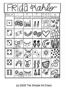 frida kahlo paintings Art Lesson: Symbolism Self-Portrait Art Game Art Sub Plans, Art Lesson Plans, Game Art, Self Portrait Art, Art Tumblr, Frida Art, Art Worksheets, Drawing Games, Art Activities