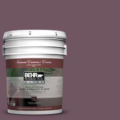 BEHR Premium Plus Ultra 5-gal. #S110-7 Exotic Eggplant Eggshell Enamel Interior Paint