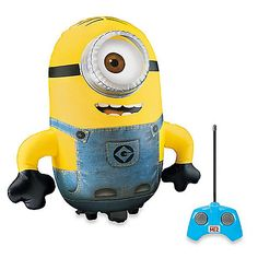 This jumbo Inflatable Radio Controlled Minion from Despicable Me brings Stuart to life in your living room. Drive him indoors or out. Goes all directions, and can even spin 360 degrees.