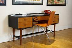 SOLD Striking Danish Style Mid Century Desk or Dressing Table | Etsy
