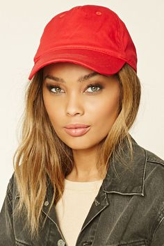4fb8666e478 A woven canvas baseball cap featuring an adjustable back. Shop Forever