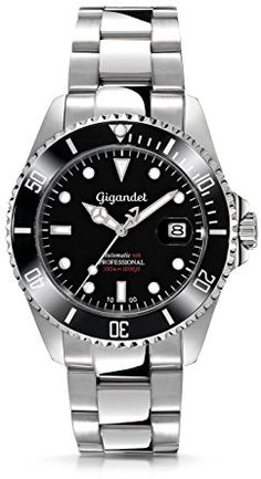 Gigandet Sea Ground Automatic Men's Analogue Diver Watch Black Silver G2-002