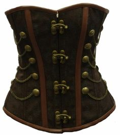 """Prepare for serious combat in this solidly construced steel boned corset with metal lock clasp closure. A substantial item, each weighs over 3 pounds!      Steel boned corsets can pull your waist in by 4-5"""" in relative comfort. Steel boned corset sized as """"28"""" corset will go no smaller than 28"""" when the back of the corset is fully closed. All corsets in this category have 6"""" modesty panels to allow you to tension the corset across desired regions according to comfort or control. $149.95"""