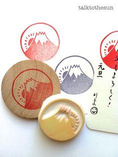 timbre de caoutchouc au Japon. Mont fuji et le par talktothesun, $16.00