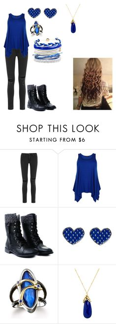 """Let's Play a Game pt1"" by katie-odoms ❤ liked on Polyvore featuring rag & bone, Indulgems and Domo Beads"