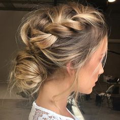 Hairstyles for wedding guests frisuren haare hair hair long hair short Wedding Hair And Makeup, Hair Makeup, Hair Wedding, Hairstyle Wedding, Messy Wedding Updo, Makeup Hairstyle, Plaited Hairstyle, Wedding Hairdos, Eye Makeup