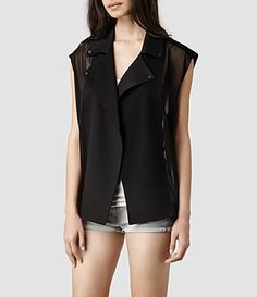 Shop shearling jackets, leather bikers and cashmere jumpers. New Styles Added. Styles: Leather Jackets, T-Shirts, Dresses, Bags. Coats For Women, Jackets For Women, All Saints, Biker, Leather Jacket, Street Style, How To Wear, Styles