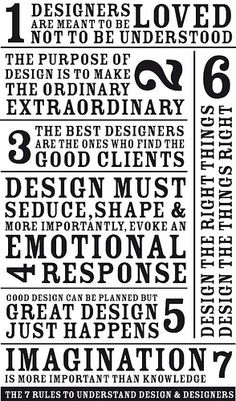 7 Rules to understand design and designers.