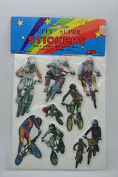 80s-1984-BIKE-RIDING-VINTAGE-PUFFY-STICKERS-RARE-MOC