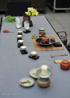 tea ceremony (too bad they left the scissors on the table!)