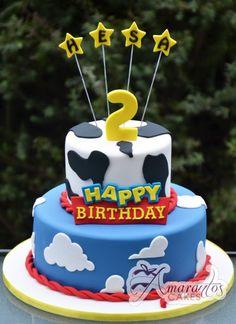 Toy Story Two Tier Cake cakepins.com