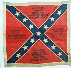 Battle Flag of Latham's, Pott's and Flanner's Co F 13th Battalion NC Light Artillery.