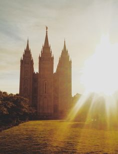 Salt Lake Temple At Golden Hour by Emily Melissa Photography
