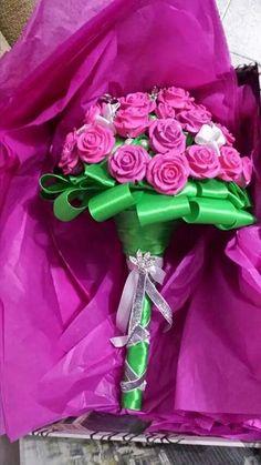 Diy brooch bouquet roses.