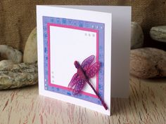 Dragonfly Greeting Card Purple Dragonfly Wire by 4SeasonCards