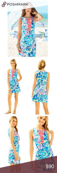 "🆕 Lilly Pulitzer ADARA SHIFT DRESS DESCRIPTION The Adara Shift is a classic Lilly shift with a modern twist including colorful crochet details and pom poms You've got the hook-up:built-in lingerie snaps make this dress bra-friendly A girl need options:Enjoy an extra 1-3/4"" inches of hem flexibility with this style.Wear as-is or let it out for some extra length Shift Dress With Crochet And Pom Pom Details 36"" From Top Of Shoulder To Hem Length: Above The Knee Vintage Dobby - Printed (100%…"