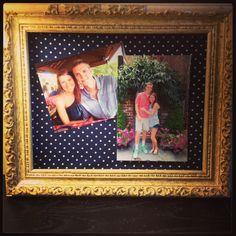 Frame +Fabric+Snapshots=college apartment cuteness!
