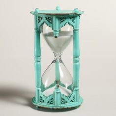 BEAUTIFUL! -One of my favorite discoveries at WorldMarket.com: Teal Moroccan Sand Timer #worldmarkettribe