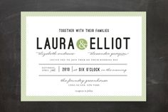 Dot and Cross Wedding Invitations by Wondercloud Design at minted.com