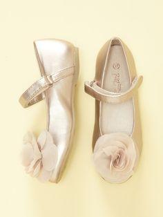 Pazitos Silk Flower Mary Jane Shoe
