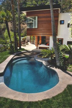 Pool and yard / modern home