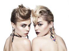'Face Melt' - Cara Delevingne and Rita Ora - by Rankin.