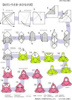 おりがみ畑折り紙教室 おひなさまの折り方折り図|神奈川折り紙箸袋協会 おりがみ畑