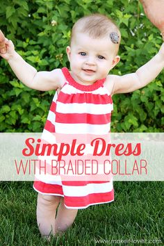 Simple Dress with Braided Collar (from a Women's Tshirt) | via Make It and Love It
