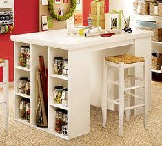 Craft table. IKEA hack.