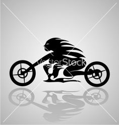 Tribal motorcycle girl vector 2221198 - by iwant61 on VectorStock®