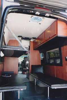 Sportsmobile Custom Camper Vans - Bunks & Platform Beds
