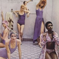 More summer swim inspiration from #DeborahTurbeville #vogue 1970's #lacausaloves