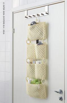 Eenvoudige hangende opbergers voor je badkamer. Opberger NORDRANA #IKEABE  Hanging storage space in your bathroom. Storage space NORDRANA #IKEABE