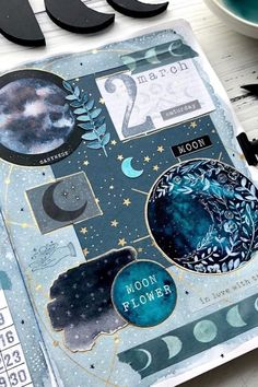 Love keeping the same theme throughout your entire bujo for the month? Check out the best bullet journal space spreads to make your pages look stellar! Bullet Journal Notebook, Bullet Journal Spread, Bullet Journal Ideas Pages, Bullet Journal Inspiration, Junk Journal, Art Journal Pages, Journal Covers, Bullet Art, Kunstjournal Inspiration