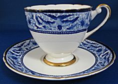 Shelley Swallows Cup and Saucer
