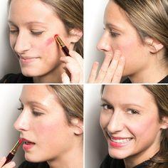 rouge à lèvres en tant que blush