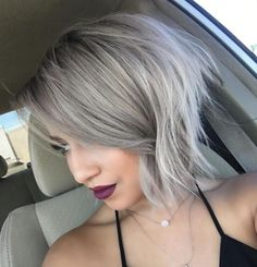 Ash Blonde Shaggy Bob