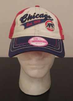 NEW ERA 9Forty Chicago Cubs MLB Baseball Hat Cap Women's Adjustable Triple Play #NewEra #ChicagoCubs