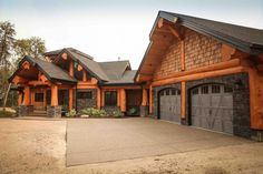Post and Beam log homes are one of Artisan Log Homes most popular log home style to design and build. View our custom log homes here! Mountain House Plans, Barn House Plans, Craftsman House Plans, New House Plans, Cabin Style Homes, Log Cabin Homes, Log Cabins, Timber Frame Home Plans, Timber Frame Homes