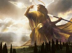 Heliod, God of the Sun Art by Jaime Jones