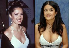 Salma Hayek Plastic Surgery Before And After Photos, nose job and breast implants were among heated arguments related to Salma Hayek's cosmetic surgery Salma Hayek Young, Salma Hayek Body, Plastic Surgery Photos, Celebrity Plastic Surgery, Beautiful Celebrities, Gorgeous Women, Salma Hayek Pictures, Celebrity Look, Celebrity Photos