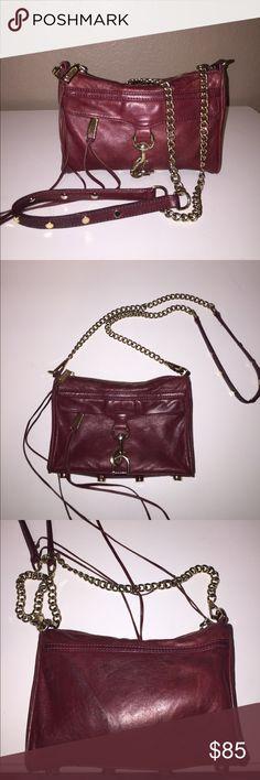 Rebecca Minkoff Mini Mac Previously loved, still in great usable condition burgundy mini M.A.C!! Rebecca Minkoff Bags Crossbody Bags