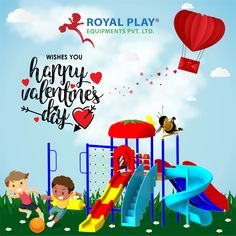 Have fun on the swing or sea saw with your loved ones. Royal Play Equipment wishes everyone a very Happy Valentine's Day. #love #royalplayequipment #valentinesday #playground