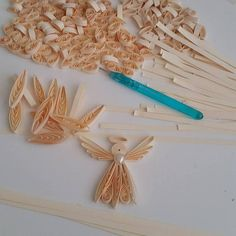 Quilling Angel Quilling arte ornamento Quilled Angelo di